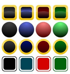 Collection of icon or button templates vector image
