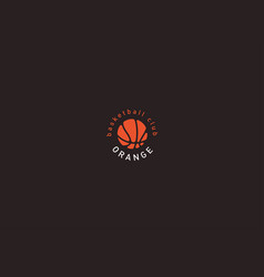 Creative logo basketball and the image of an vector