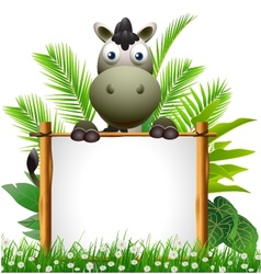 cute donkey cartoon vector image vector image