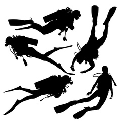 Diving silhouette vector