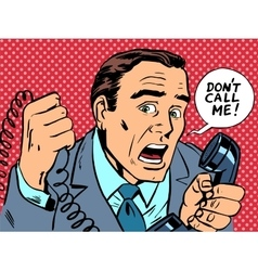 do not call me male phone stress vector image vector image