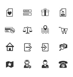 E-commerce interface icon set vector