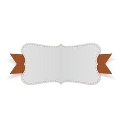 Festive card with orange ribbon vector