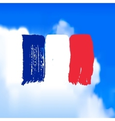 Flag of France against the sky vector image vector image
