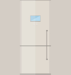 Fridge icon or button in flat style vector