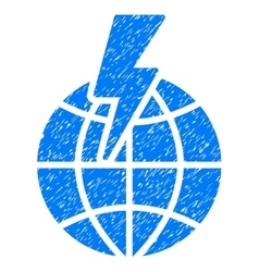 Global shock grainy texture icon vector