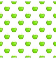 Green apple pattern cartoon style vector