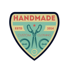 handmade custom clothing vintage isolated label vector image vector image
