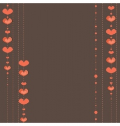hearts background vector illustration vector image