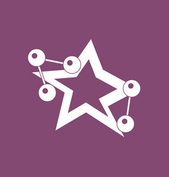 Icon molecules and star vector