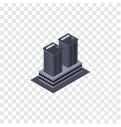 Isolated skyscraper isometric tower vector
