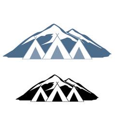 logos of wigwams vector image vector image