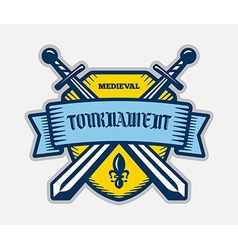 Medieval knight tournament sport logo vector image vector image