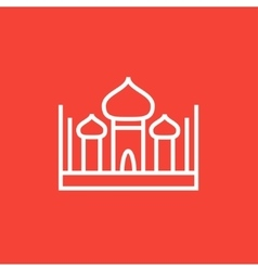 Mosque line icon vector image vector image