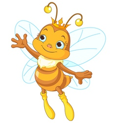 Queen bee showing vector
