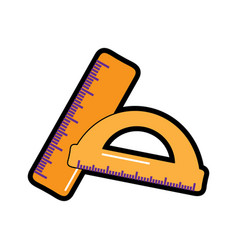 Rulers school supplies icon image vector