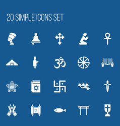 Set of 20 editable dyne icons includes symbols vector