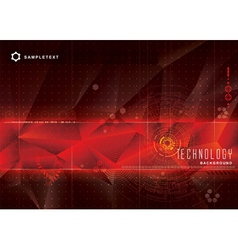 Technical red background vector