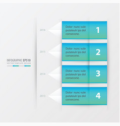 timeline report template blue gradient color vector image vector image