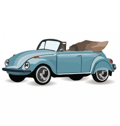 Vintage retro car isolated vector