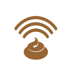 wi-fi shit wifi turd bullshit wireless vector image vector image