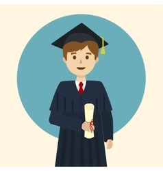 Graduate student cartoon vector