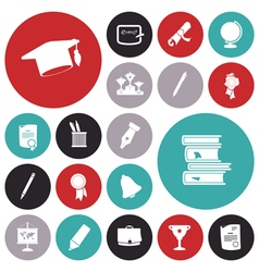 Icons for education and science vector