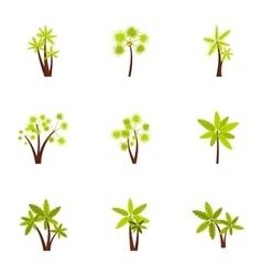 Palma icons set flat style vector