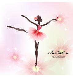 Ballerina Invitation Card vector image