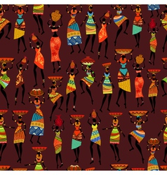 africa girl seamless vector image