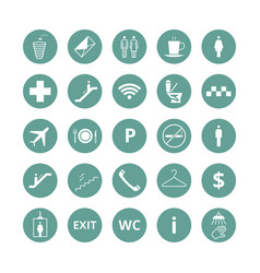 public place navigation icons toilet vector image