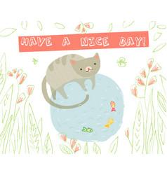 Animal greeting card vector