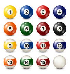 Billiardpool balls collection snooker white vector