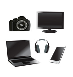 set of electronic device vector image