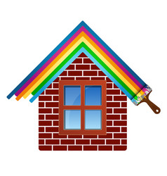 painting brick house vector image