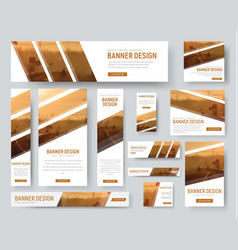 Web banners templates with diagonal stripes for vector
