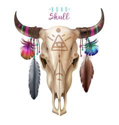 Boho cow skull vector