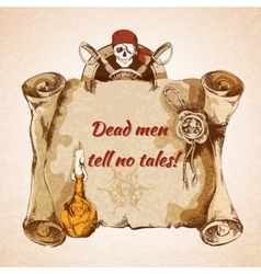 Vintage pirates background vector