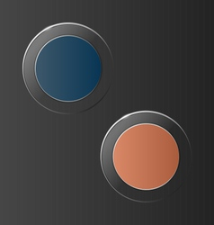 Glassy circle icons on grey vector