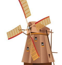 Windmill2 vector