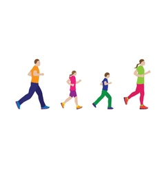 Running family family sports vector