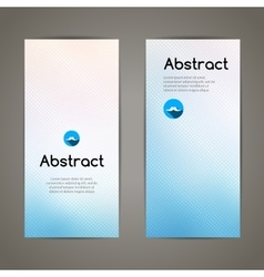 Set of colorful geometric banners for innovate vector