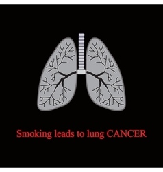 Smoking leads to lung cancer vector