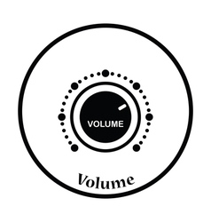 Volume control icon vector
