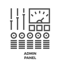 Admin Panel Line Icon vector image vector image