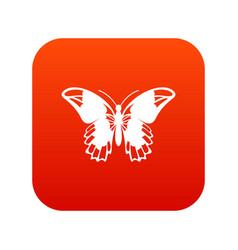 Admiral butterfly icon digital red vector