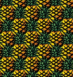 ananas background vector image vector image