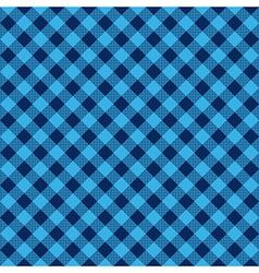 Blue check diagonal fabric texture seamless vector