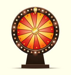 Cartoon of a glowing wheel vector
