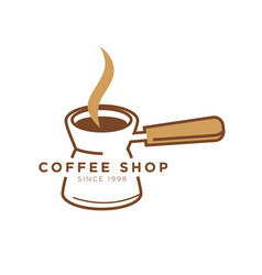 coffee shop cafe icon template of turkish vector image vector image
